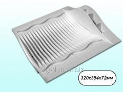 Сушарка пластикова для посуду Люкс (20тар) (біла)