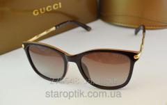 Женские солнцезащитные очки Gucci 6104 коричневый