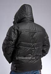 Куртка мужская зимняя прорезиненная пуховик