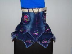 Детская джинсовая юбка  147 Д-2