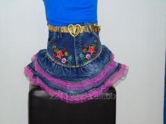 Детская джинсовая юбка  147 Д