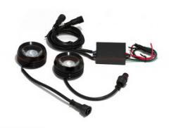 DRL daylight headlight - 1-5 red-blue + a