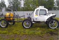 Опрыскиватель самоходный ОС Rosa на узкопрофильных колесах