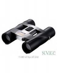 The Nikon Aculon A30 8x25 field-glass is silvery