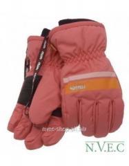 Alpine skiing Reusch Kids hot pink/orn.popc gloves