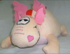 Valentine's Day cards the Soft toy pillow -