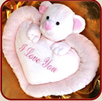 Pillow of darling, to beloved 'I love you', for