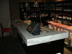 Bar counter from a natural stone