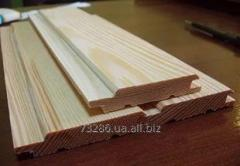 Lining wooden pine europrofile of 16 mm perfect