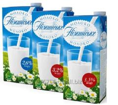 Ultra - pasteurized milk of 2,6% of fat conten