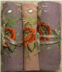 Table clothing with embroidery for hotels,