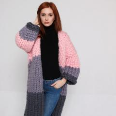 The cardigan is knitted, a coat, wool of a merino,