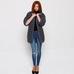 Кардиган из толстой пряжи, Cardigan , coat, wool
