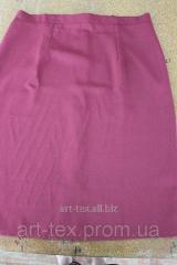 Skirt on flypapers gabardine