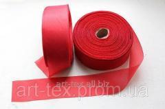 Tape of silk 5 cm/50 m Red