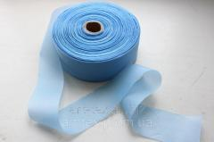 Tape of silk 5 cm/50 m Blue