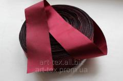 Satin ribbon of 5 cm/50 m Blue