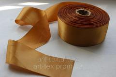 Satin ribbon of 5 cm/50 m Golden