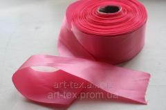 Satin ribbon of 5 cm/50 m Pink