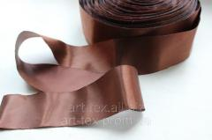 Satin ribbon of 5 cm/50 m Brown
