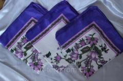 Платок на голову шелк Фиолетовый