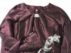 Платье для погребения №8 - плащевка спелая вишня