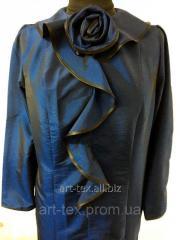 """Платье для погребения №6 """"Роза"""" - плащевка синий"""