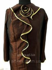 Dress for burial with a rose bronze