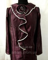 """Платье для погребения №6 """"Роза"""" - плащевка спелая вишня"""