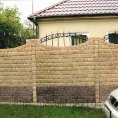 Изготовление бетонного забора двухстороннего