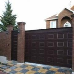 Gate Chocolate panel of stamped 2*1,1 m