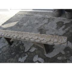 Конек для забора мрамор из бетона зеленый