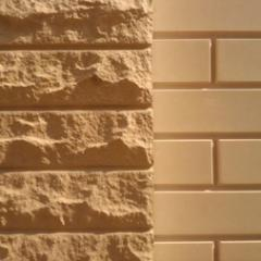 Plate facing decorative chipped brick of 250х1000