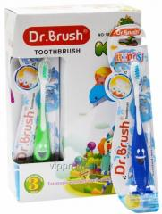 The Dr. BRUSH toothbrush for children with a flypaper (12sht./unitary enterprise., 360sht./box) Ivano-Frankivsk