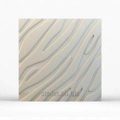 The plaster 3D panel for walls. 001. 500 X 500 X