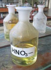 The nitric acid which is not concentrated 46% in