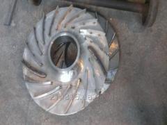 Диск основной с приварными лопатками колеса ГПА