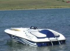 High-speed water-jet boat RUSH 14 XR.