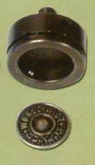 Matrix on a jeans button on D20-17 18110 leg