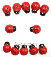 Decor derev-ladybug of 10х15 mm, 100 pieces 24169