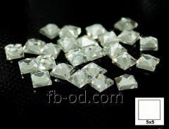 Stones pastes glue 5х5 white-upak 100 pieces 24005