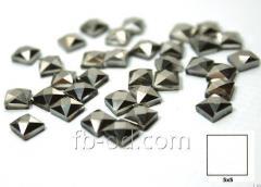 Stones pastes glue 5х5 graphite-upak of 100