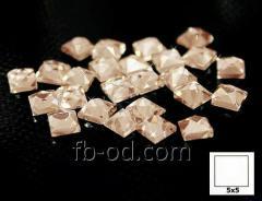 Stones pastes glue 5х5 peach-upak of 100 pieces