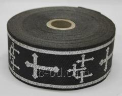 Tape decor. with a pattern (church) 2 (a black