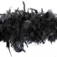 Boa down feather of D 10 Black 23341