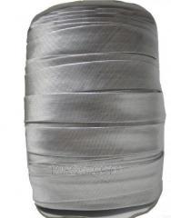 Slanting inlay (rulochka) from brocade Silver