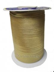 Slanting inlay (rulochka) from brocade Gold 09212