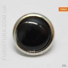 Button bluzochny in a silver rim (22L)