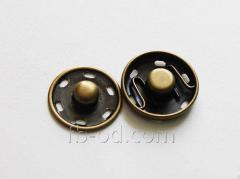 Button attached metal Antique, D17 23128