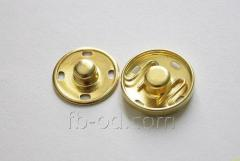 Button attached metal Gold, D17 23129
